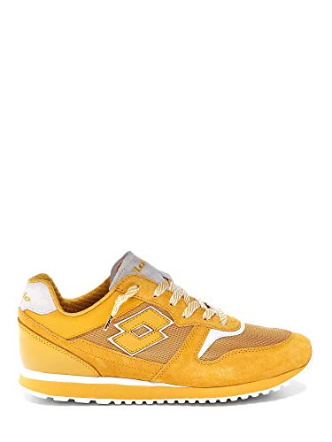 Lotto 211152 Tokyo Yellow Ginza Sneakers Maschili in CAMOSCIO E Tessuto 43EU