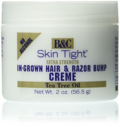 Razor Bump-creme (B&C Skin Tight Razor Ingrown Hair Creme Extra Strength 56,5g)