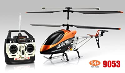 Beyondfashion Double Horse 9053 Volitation Gyro 3Ch Radio Remote Control Large Outdoor RC Metal Helicopter