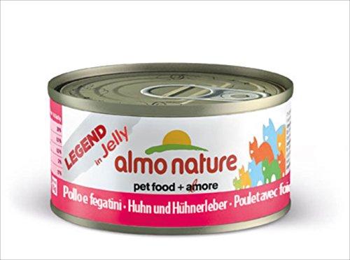 Almo Nature Rouge Label Poulet Filet avec Foie, 55g, Lot de 24