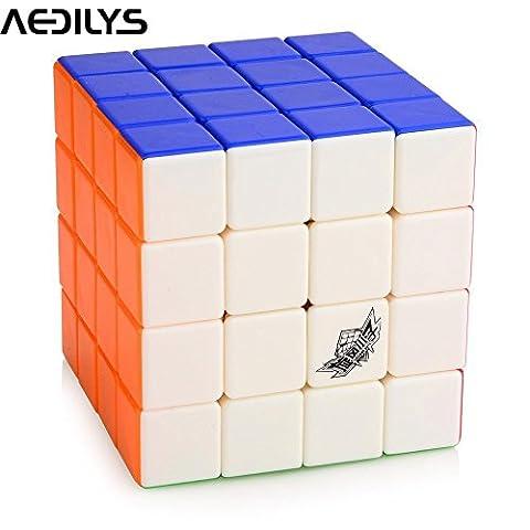 ShengShou Cube magique blanc élastique 4x4x4