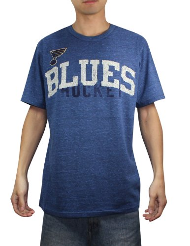 NHL Mens St. Louis Blues Athletic Short Sleeve T-Shirt (Vintage Look) M Blue