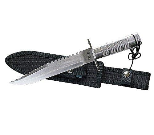 Linder Outdoormesser Tanto-und Überlebensmesser, Metallhohlgriff 20cm Klingenlänge Gürtelmesser, Mehrfarbig, 20 cm