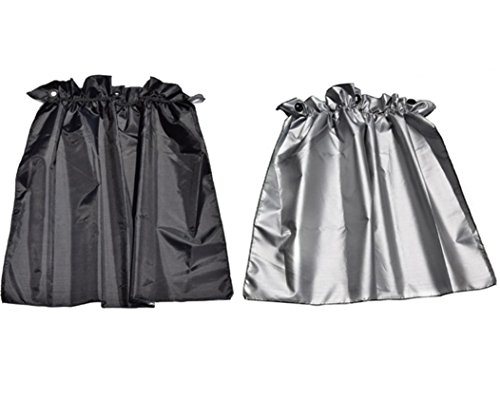 EMIRROW Parasol de coche Proteger Protección UV para bebés cortina para ventana lateral de coche plegable con ventosas