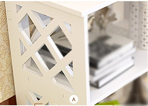 DFHHG® Librería estante para libros 40 (largo) * 23 (ancho) * 100 (alto) Cm Blanco Cuatro capas Escritorio creativo para escritorio Rack de almacenamiento durable