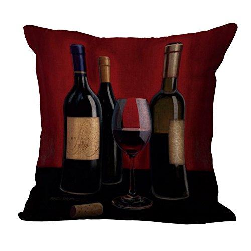 MAYUAN520 Zierkissen Rotwein Romanze Elegante Life Style Design Massagegerät Kissen Dekorative Vintage Kissen Decken Home Decor Geschenk, Gelb (Vintage-massagegerät)