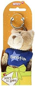 NICI n15858-Llavero Oso con Camiseta Christian, Azul