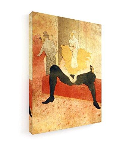 Henri de Toulouse-Lautrec - Clowness Cha-U-Kao - Lithographie - 30x40 cm - Leinwandbild auf Keilrahmen - Wand-Bild - Kunst, Gemälde, Foto, Bild auf Leinwand - Alte Meister / (Kostüme Epoque Belle)