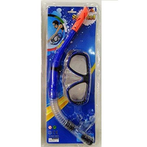 Lively Moments Schnorchelset für Erwachsene / Schwimmmaske und Schnorchel in blau