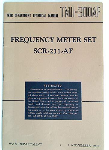 Frequency Meter Set SCR-211-AF. (2 Nov 1943)