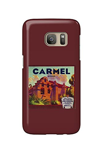 Carmel Orange - Vintage Crate Label (Galaxy S7 Cell Phone Case, Slim Barely There) - Orange Crate Label