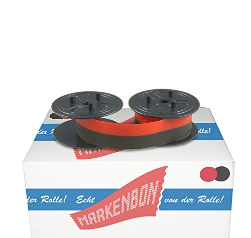 Farbbandspulen passend für Citizen IDP 570 [schwarz/rot] von markenbon - Farbband 051 S + U - Canon Gruppe 51 (1 Karton mit 5 Stück)