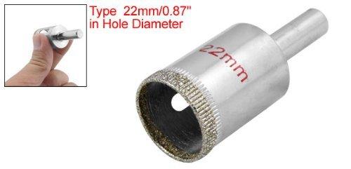 DealMux Diamantspitze 22mm Glaskreis Lochsäge Schneidwerkzeug