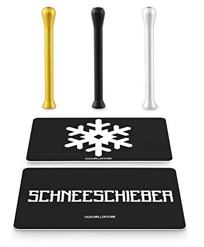 BALLER.STORE 3X Ziehröhrchen inkl. SCHNEESCHIEBER & Schneeflocken-Karte | Schnupfrohr | Schnupftabak | Dosierer |