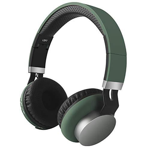 Astrryfarion Over The Ear Cuffie Bluetooth Senza Fili, Cuffie per Basso Pesante, Cuffie Antirumore per Basso Cuffie Stereo per Laptop Telefono Cuffie Stereo Suono Verde