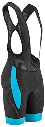 Louis Garneau Herren CB Carbon 2 Gepolsterte Trägerhose ärmellos Radhose schwarz blau Größe L -