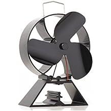 Ventilador de 3 hojas con ventilador de respaldo redondo para estufa de leña / estufa de