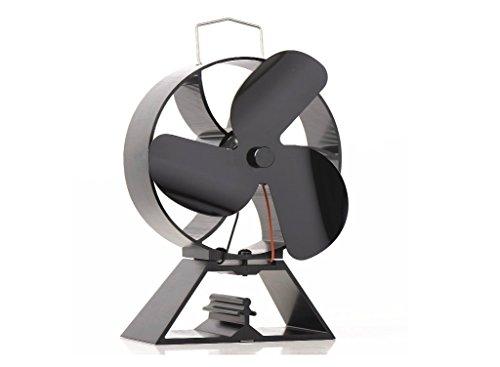 Ventilador de 3 hojas con ventilador de respaldo redondo para estufa de...