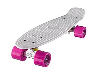 Ridge Unisex 55 cm Mini Cruiser Retro Stil in M Rollen Komplett U Fertig Montiert Skateboard