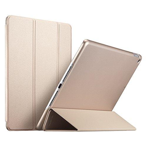 ESR Ultra Dünne Hülle Kompatibel mit iPad 2018 / iPad 2017 Modell 9,7 Zoll - Smart Case Cover mit Gummierter Rückseite Schutzhülle - Magnet mit Auto Sleep/Wake Funktion - Champagner Gold