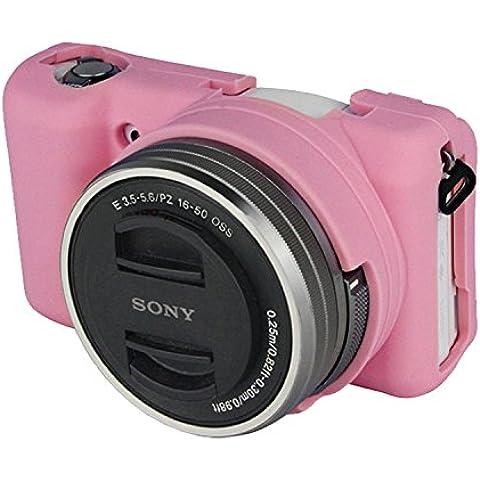 COOSA Goma protectora hermético al polvo de silicona suave cubierta de la caja de la manga de la cámara SONY A5000/A5100
