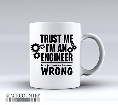 M031Trust Me Im ein Ingenieur Funny Design Neuheit Geschenk Idee Kaffee Tee Tasse aus Keramik