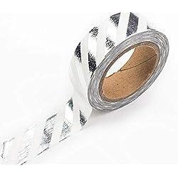 Rollo de cinta adhesiva decorativa plateada 15mm x 10m