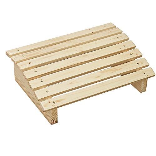 LJHA Tabouret pliable Tabouret de pied en bois solide créatif/pédale de bureau d'échelle/intensifier le tabouret/Steppin de pédalage de salle de bains chaise patchwork (Couleur : A, taille : 60 cm)