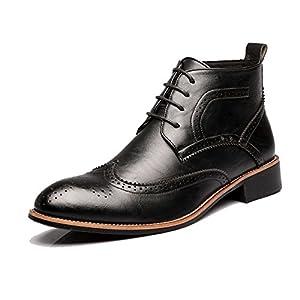 Best Choise Zapatos de hombre con cordones de Oxfords transpirables Botines de tacón alto para caballeros Al aire libre