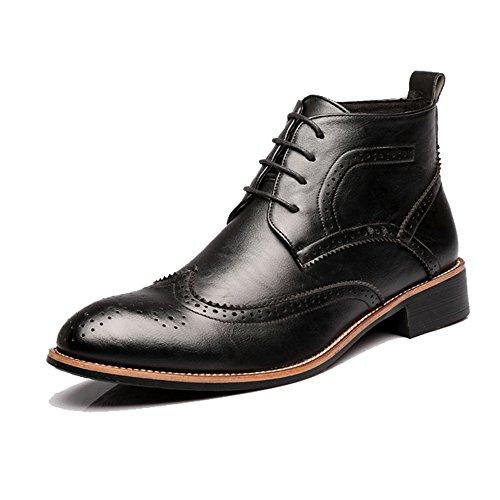 Best choise scarpe da uomo stringate alte e traspiranti oxford alti stivali per gentiluomini all'aperto ( color : black , size : 41 eu )