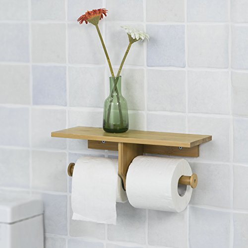 SoBuy® FRG254 N Toilettenpapierhalter Mit Ablage Zur Wandmontage,  Rollenhalter Für Badezimmer, Küchenrollenhalter