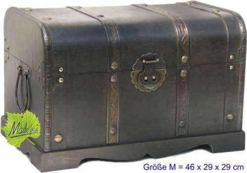 Made for us Holz-Truhe Schatz-Kiste Piraten-Truhe Geld-Truhe für Jubiläum Hochzeit Aussteuer braun 46 x 29 x 29 cm original (Schatz-truhe-aufbewahrungsbox)
