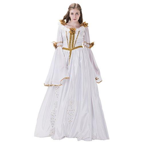 COUCOU Age Viktorianisches Kleid Kostüm Abend Hochzeitskleid Cocktail Weiß