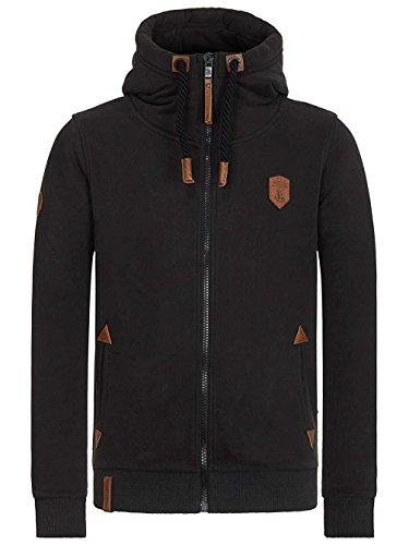Naketano Male Zipped Jacket Schwarzkopf Black