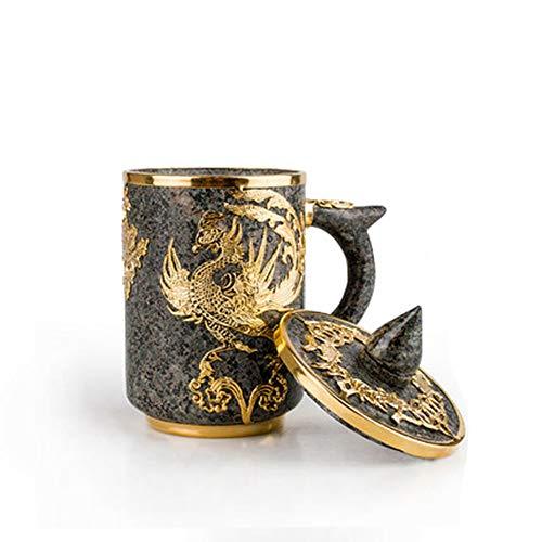 ZXX Spaß Kaffeetasse Geschenk handgemachte Tasse natürlichen Maifan Stein Retro Wasser Tasse Tee Tasse Spaß Becher neues Geschenk Herren Damen Geburtstag Festival Engagement