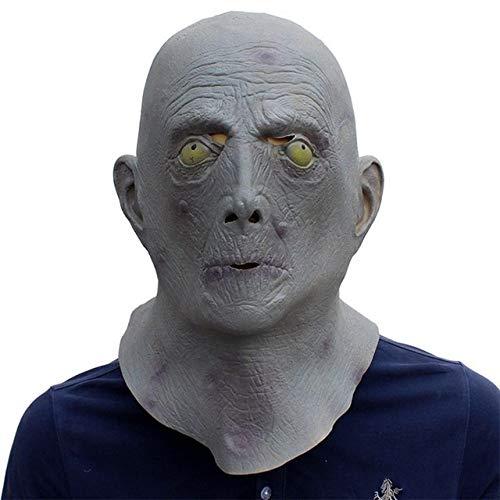 Kostüm Haar Alien - JNKDSGF HorrormaskeHalloween Terror Maske Alter Mann Älterer Glatze Latex Maske Vollgesicht gruselig Kopfbedeckung Party Kostüm Alien Kopfbedeckung Maske-Bild Farbe