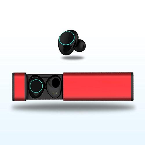 Arbily Mini Auricular Bluetooth 4.2 Control táctil In Ear Auriculares Inalámbricos Auriculares Manos Libres con Microfono y Cancelación de Ruido IPX5 Auriculares estéreo inalámbricos a prueba de agua con micrófono para iOS, Android, Windows, con caja de carga (Rosa)