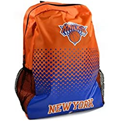 New York Knicks de la NBA baloncesto gimnasio mochila escolar color rojo negro