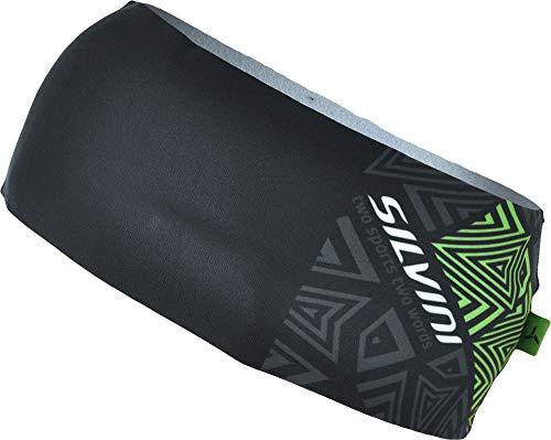 SILVINI Unisex Piave Stirnband aus Elastischem Werkstoff mit Leichter Isolierung für Aktiv Sport Schwarz - S/M