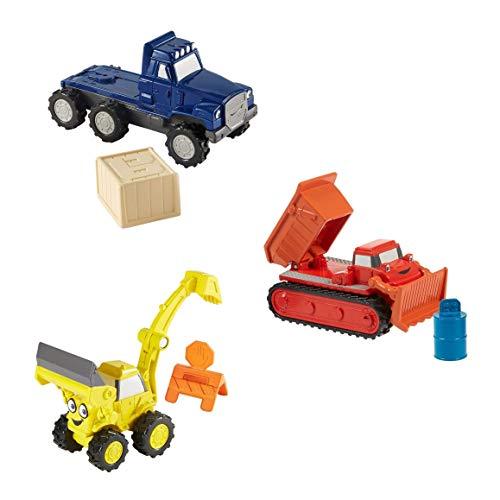Mattel Bob der Baumeister - Die Cast Fahrzeuge - 3erSet - Baggi, Schleppo und Buddel