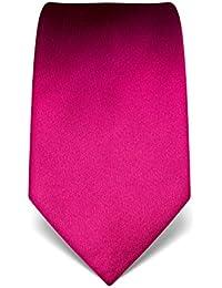 VINCENZO BORETTI Corbata de hombre de seda pura, lisa, en muchos colores