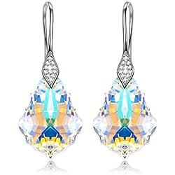 Pendientes de Plata de ley con Cristales Swarovski Geométricos