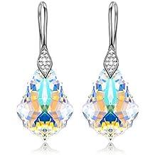 """NINASUN """"Aurora"""" 925 Sterling Silber Ohrringe für Damen mit Aurore Boreale SWAROVSKI® Kristalle, Allergenfrei"""