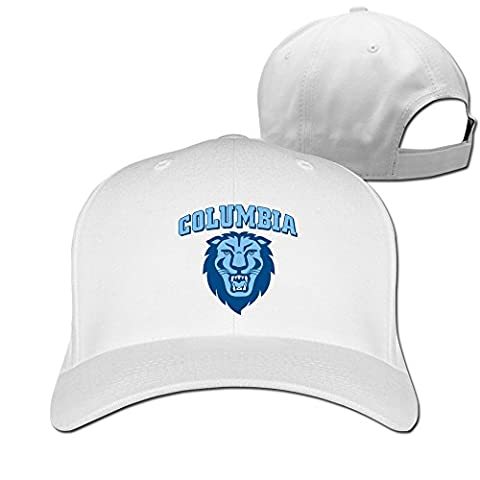 Hittings Columbia University Cotton Baseball Hat Peaked Cap White