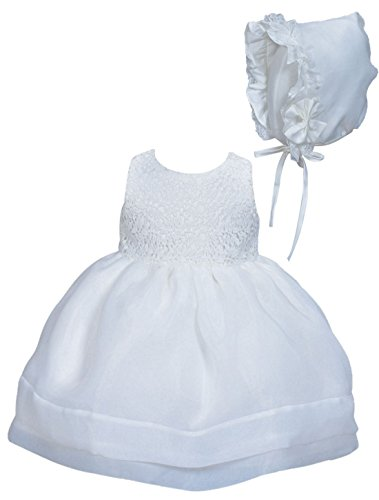 Happy Cherry Baby Süßes Taufkleid Kleid Set Babymädchen Kleid & Mütze, Kleine Prinzessin Kleid Ärmelloses Kleid Gr.12 für die Körpergröße bis 73cm(6-11 Monate) - - Cherry Baby Kostüm