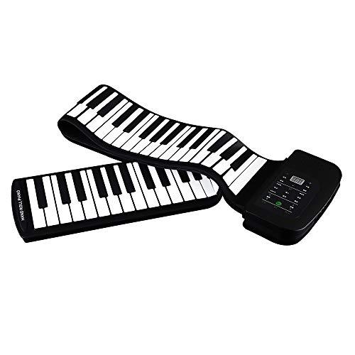 Zylfn portatile 88 keys roll-up tastiera elettronica del pianoforte flessibile con tasti full soft reattivo built-in altoparlante