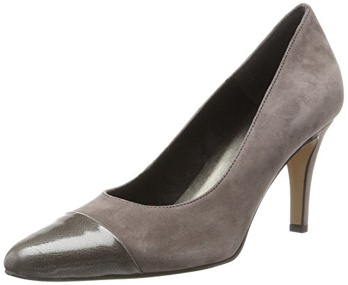 Tamaris Damen 22442 Pumps, Grau (Cloud/Patent), 37 EU