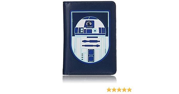 unica Star Wars Custodia pasaporte Ecopelle Blue