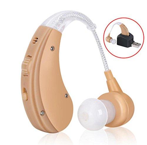 Meylee wireless usb ricaricabile digitale dietro l'auricolare dell'orecchio - si adatta sia alle orecchie a sinistra che a destra