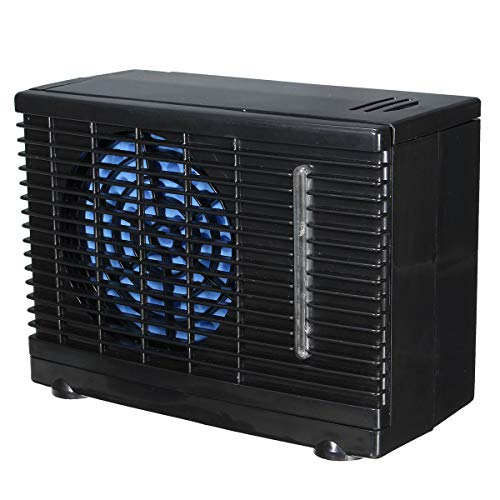 Coche 12V aire acondicionado 2 velocidad portable mini Home Car enfriador de enfriamiento ventilador agua hielo evaporativo coche aire acondicionado negro